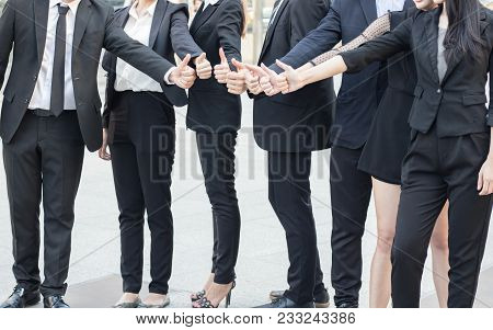 Hand Coordination Togetherness Of Bussness People Team, Coopration And Team Work In Office