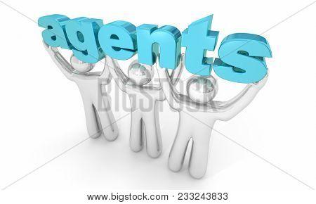 Agents People Representatives Talent Real Estate 3d Illustration