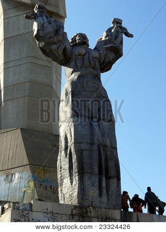 Monument Of A Mother Bulgaria In Skobelev Park. Pleven, Bulgaria