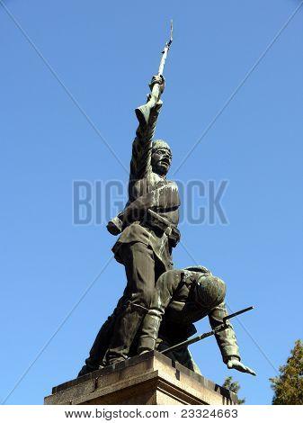 Monument for Serbian-Bulgarian war in center of Pleven Bulgaria