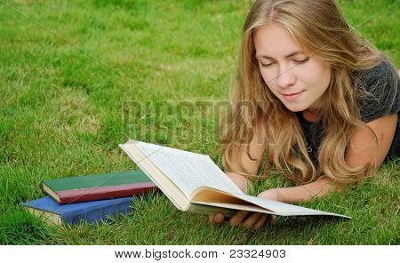 Student Reads Book