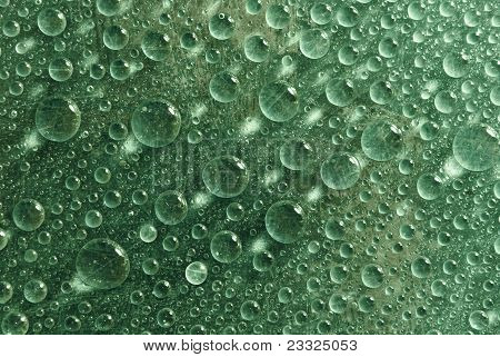 Grass Green Water Drops