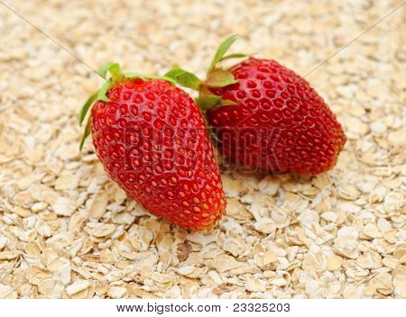 Strawberries On Cereal