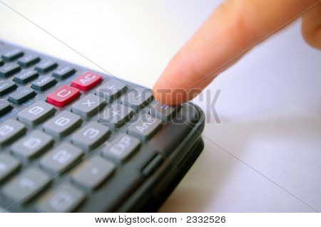 Finger Pressing Calculator Key