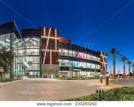 Bright Lights And Contemporary Building Design Shows The Ventura Farmland Parcel Shapes On The Sides