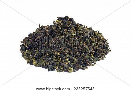 Heap Of Chinese Tie Guan Yin Tea On White Background
