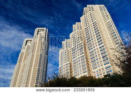 Tokyo, Japan - November 12: Tokyo Metropolitan Government Buildings No1 And No 2, Knows As Tocho, Bu