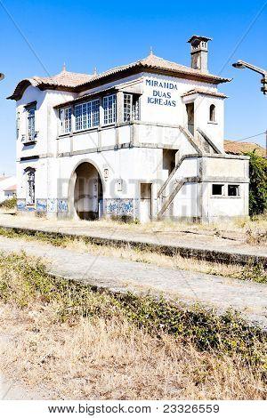 railway station of Duas Igrejas, Portugal poster