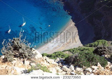 Coll Baix Beach On Majorca In Spain. Europe