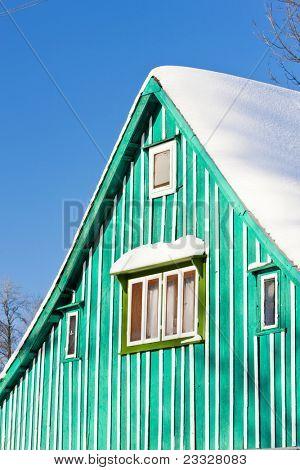 detail of cottage, Kunstat - Jadrna, Orlicke Mountains, Czech Republic