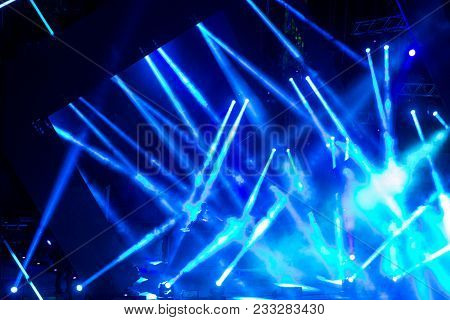 Novi Sad, Serbia - July 07 : Dj Performing In Front Of The Crowd At Dance Arena Stage During On Exit