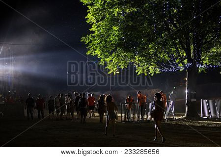 Novi Sad, Serbia - July 07 : People Are Coming To Main Stage On Exit Festival 2017, Summer Of Love E