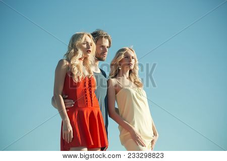 Beauty And Summer Fashion. Family Trust, Polygamy, Betrayal, Swinger. Love Triangle And Romance. Man