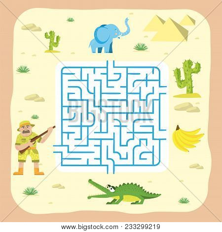 Maze Game Kids Brain Training Education Riddle Puzzle Mystery Enigma Way Tangled Road Printable Back