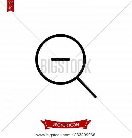 Zoom Out Icon. Loupe Icon Eps10. Minus Icon Isolated On White Background.simple Zoom Out  Icon Can B
