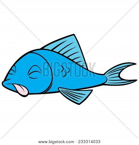 Dead Fish - A Vector Cartoon Illustration Of A Dead Fish Concept.