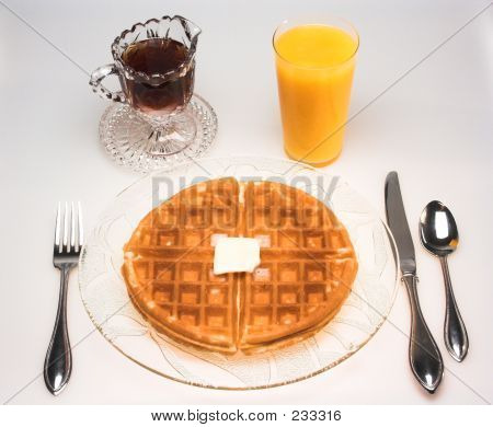 Waffle For Breakfast (high Perspective)