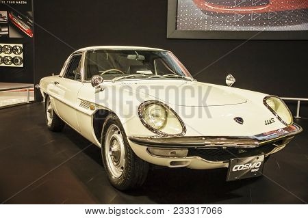 Toronto, Canada - 2018-02-19 : Mazda Cosmo, A Grand Touring Coupe With First Rotary Mazda Wankel Eng