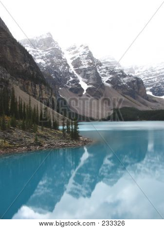 Ten Peaks And Reflection On A Lake