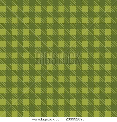 Green Seamless Tablecloth Vector. Seamless Traditional Tablecloth Pattern Vector. Pastel Green Color