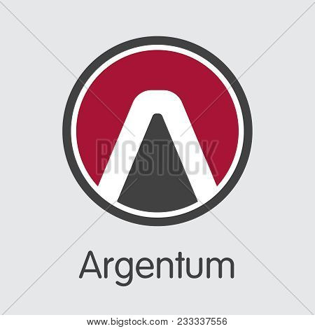 Vector Argentum Digital Currency Coin Illustration. Mining, Coin, Exchange. Vector Colored Logo Of A