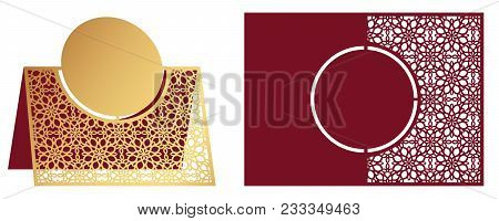 Laser Cut Ornamental Vector Template. Freestanding Table Number, Name, Place, Wedding Seats Card, Ta