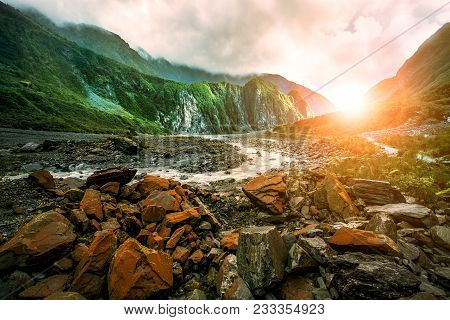 Beautiful Scenic Of Fox Glacier West Coast Southland New Zealand