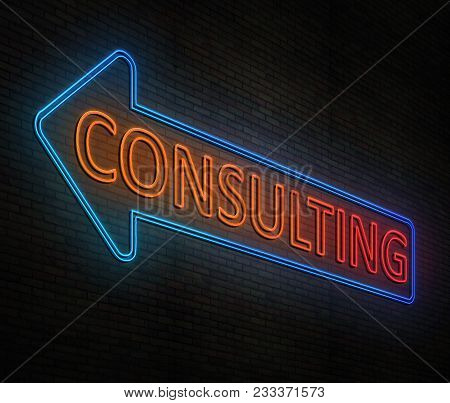 Neon Consulting Concept.