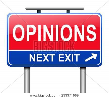 Opinions Sign Concept.