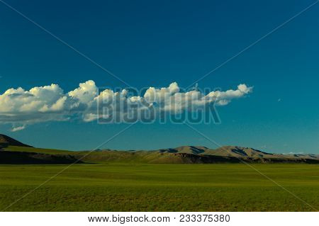 Colorful Dramatic Clouds In The Desert Of Mongolia