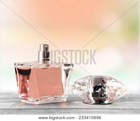 Fashion Bottle Perfume Perfum White Background Object