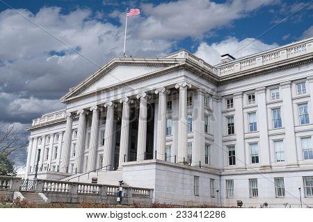 United States Treasury Department Building In Washington, Dc
