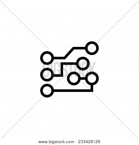 Circuit Board. Flat Vector Icon. Simple Black Symbol On White Background