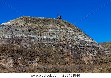Star Coal Mine, Canadian Badlands In Summer, Drumheller, Alberta, Canada