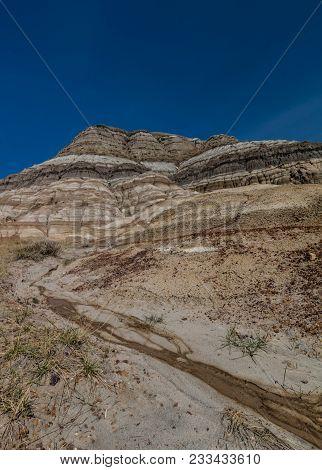 Canadian Badlands In Summer, Drumheller, Alberta, Canada