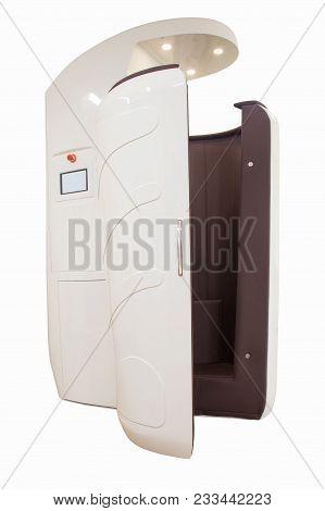 Cryo Sauna Isolated On White Background