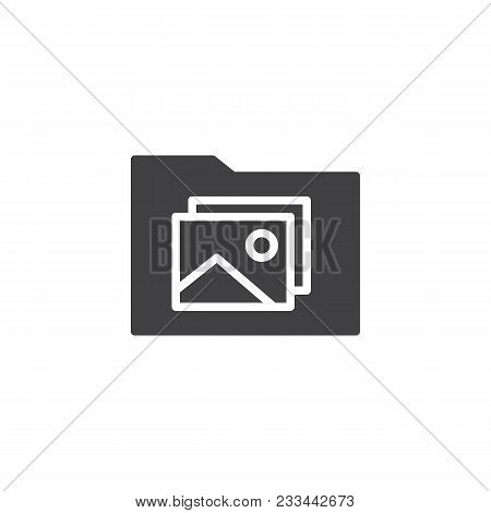 Photo Gallery Folder Vector Icon. Filled Flat Sign For Mobile Concept And Web Design. Photo Landscap