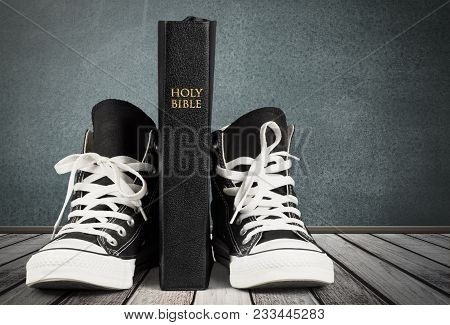 Black Holly Sneakers Bible Sport Background Object