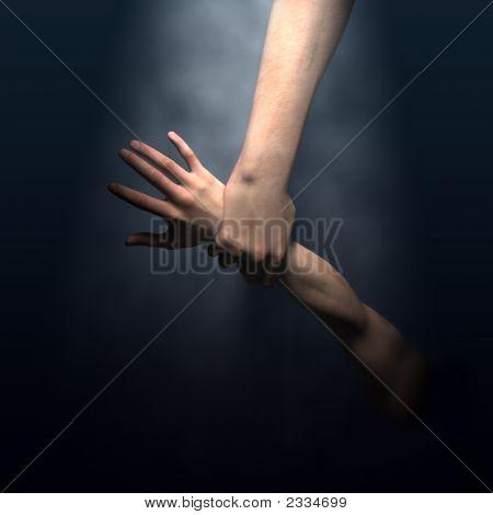 God'S Hand Saving Man