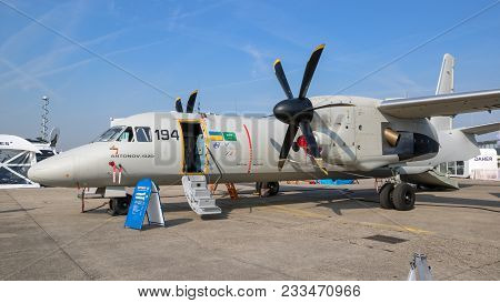 Paris, France - Jun 23, 2017: Antonov An-132d Military Transport Aircraft. An Improved Version Of Th
