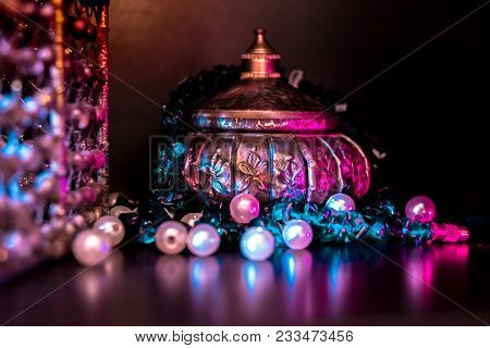 Vessel Made Of Gold Used To Serve God. This Is A Beautiful And Old Vessel That People In India Use T