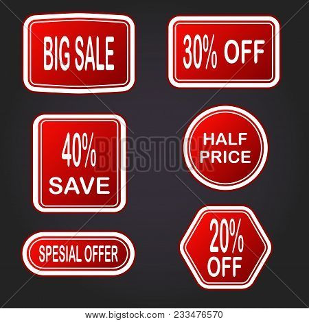 Sale Vector Banner. Sale Sticker.special Offer Sale Sticker In Flat Style. Discount Tag. Special Off