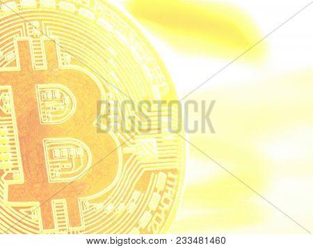 physical bitcoin coin as a symbol