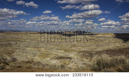 A Landscape Of The Angel Peak Scenic Area In Northwestern New Mexico. This Blm Area Showcases Colorf