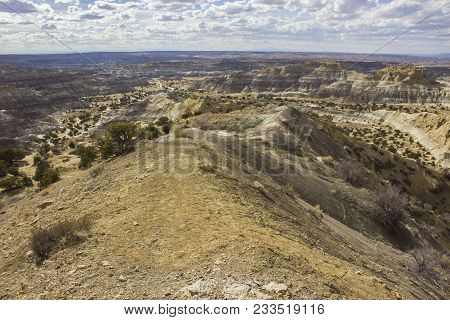 A Landscape Of The Blm Angel Peak Scenic Area In Northwestern New Mexico. This Blm Area Showcases Co