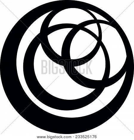 Logo Inner Circle Logo Design Template Isolated Vector