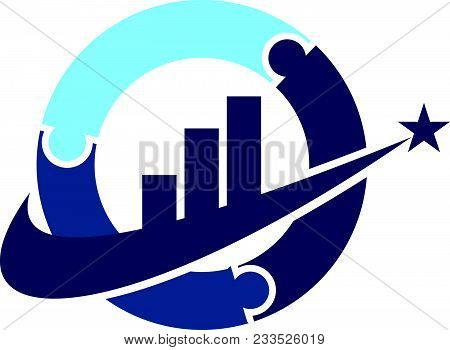 Business Strategy Alliance Logo Design Template Isolated Icon Vector
