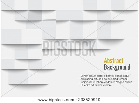 White Geometric Texture. Vector Background Can Be Used In Cover Design, Book Design, Website Backgro