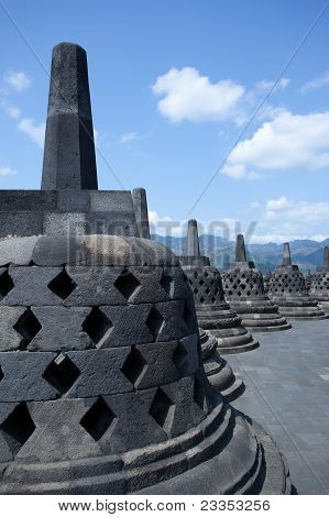 Inside Borobudur Temple