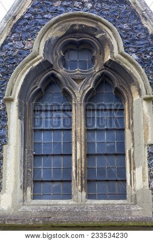 12th Century Romanian Style Church Of St Mary The Virgin, Decorative Window, Dover, United Kingdom